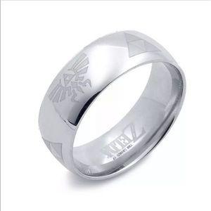 Legend of Zelda Triangle Titanium Ring